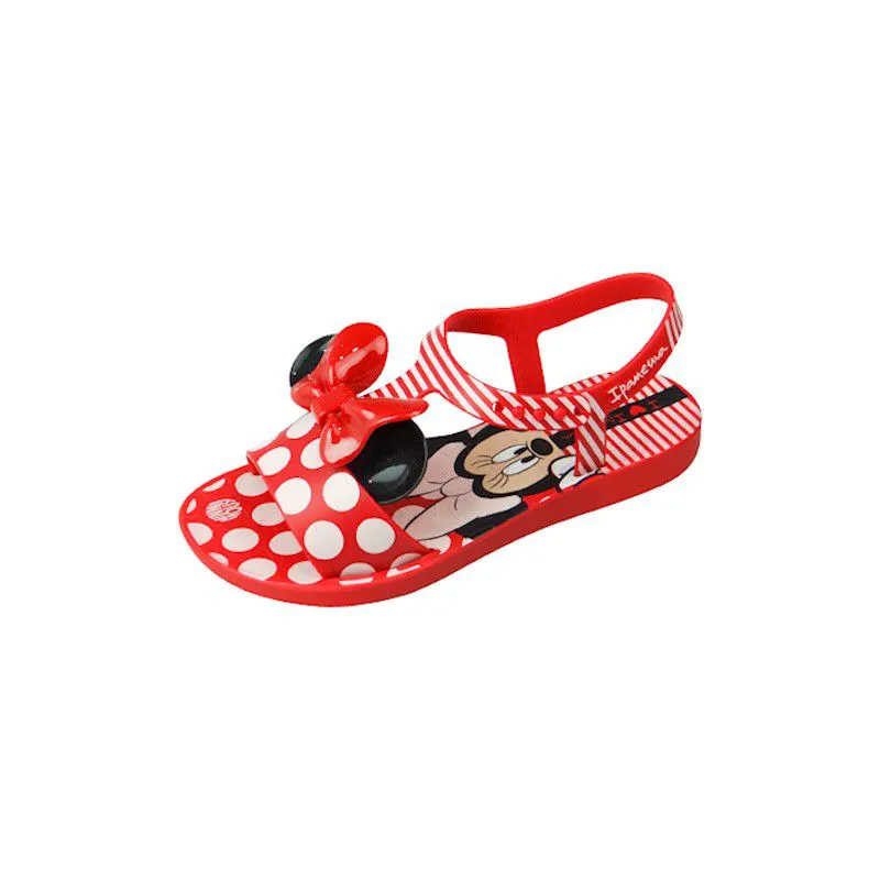 Sandália Minnie com Lacinho - Vermelha