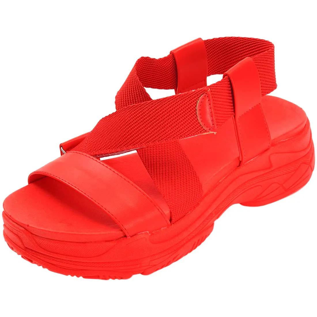 Sandalia Papete Manu Chunky - Vermelha