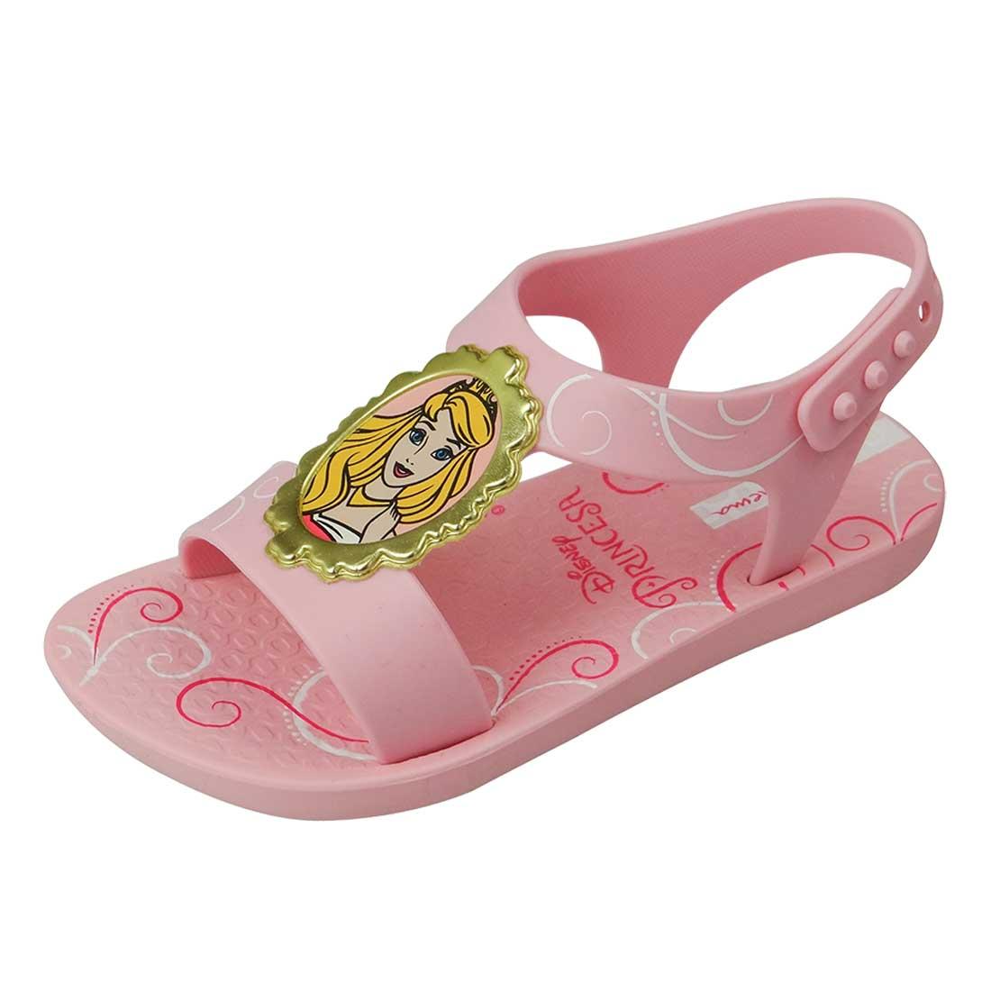 Sandália Princesas Disney - Rosa Bebê