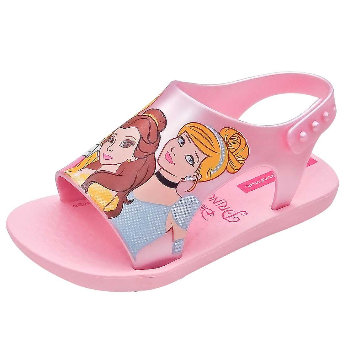 Sandália Princesas Disney - Rosa Cintilante