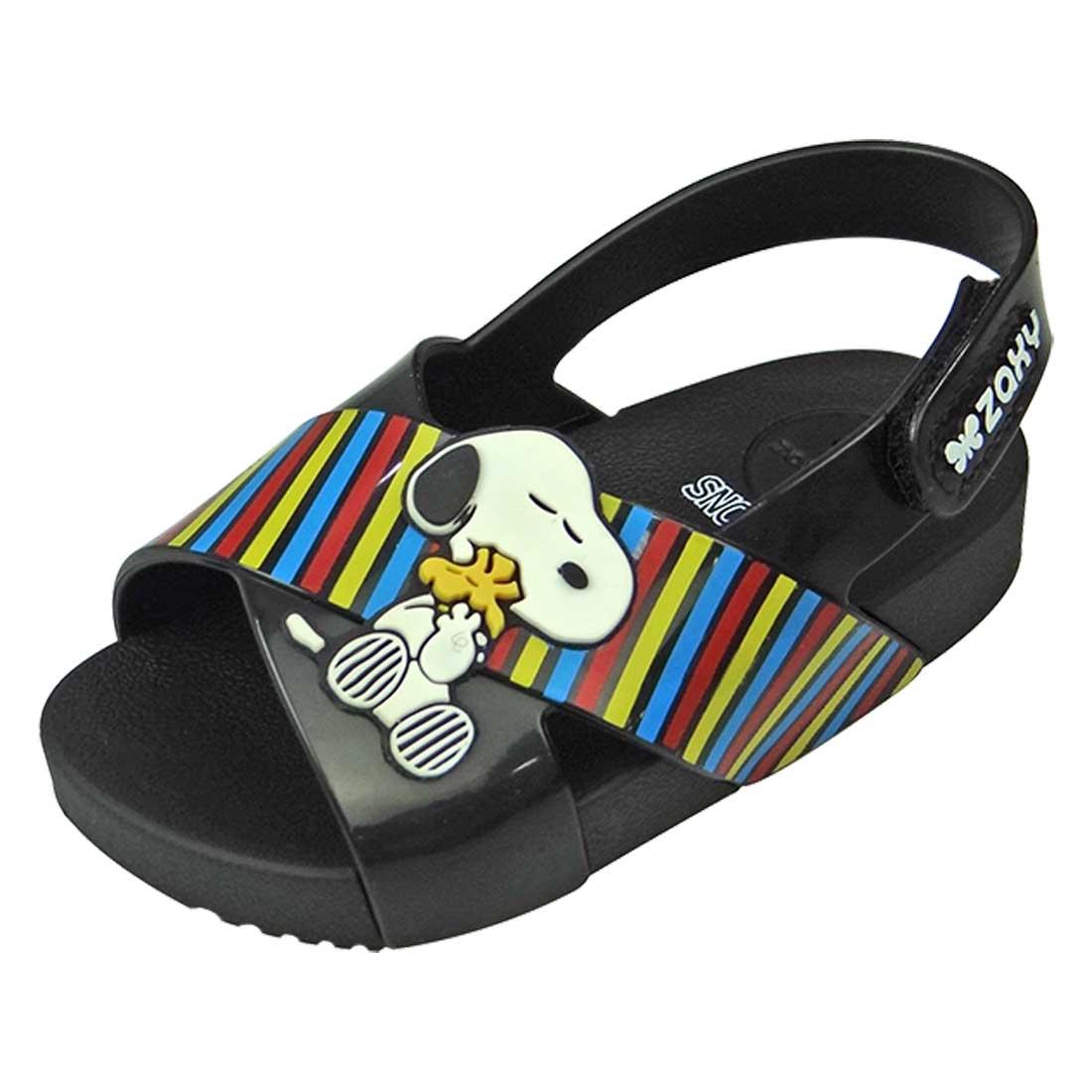 Sandália Zaxy Snoopy Baby - Preto