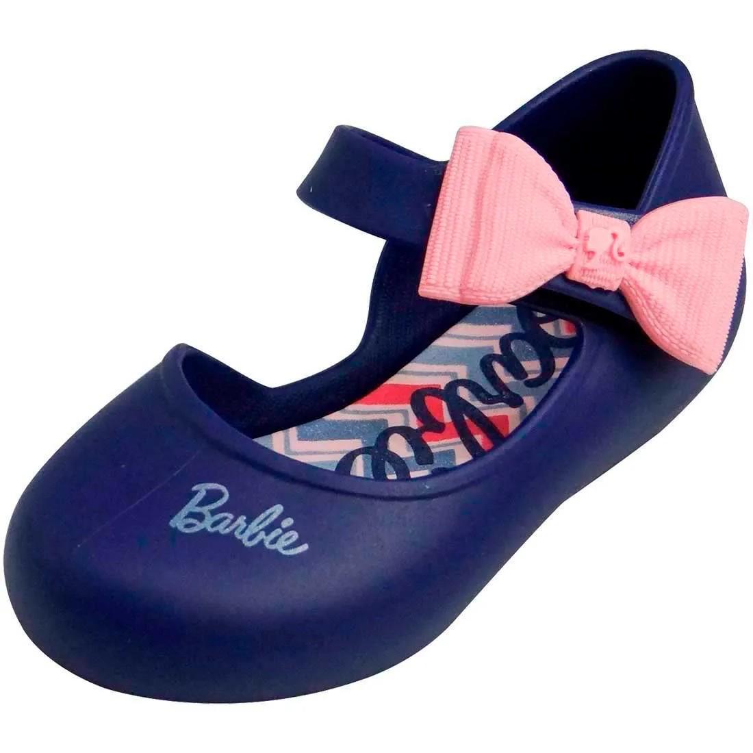 Sapatilha Baby Barbie Happy - Azul Marinho