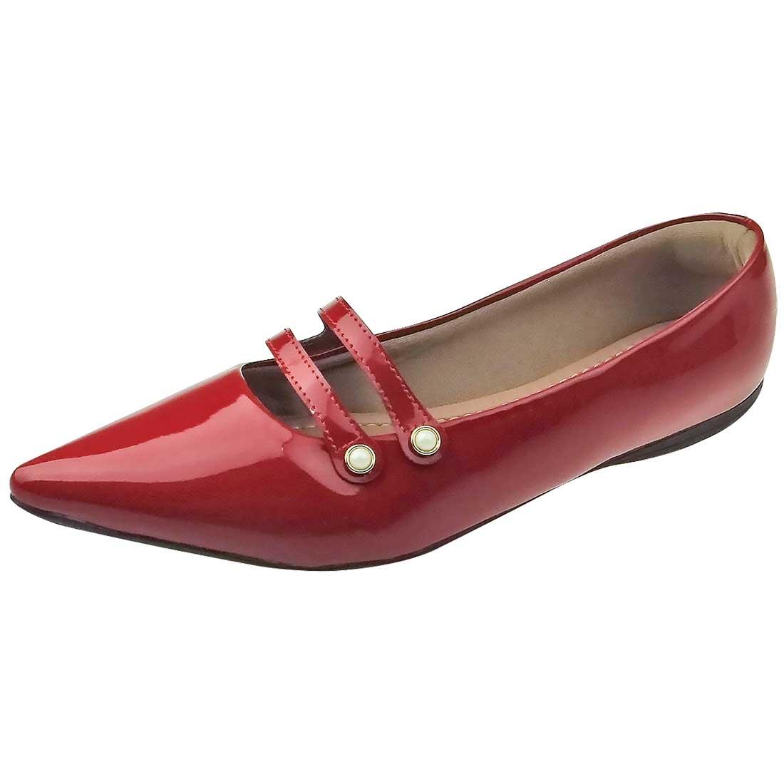 Sapatilha Bico Fino - Vermelha