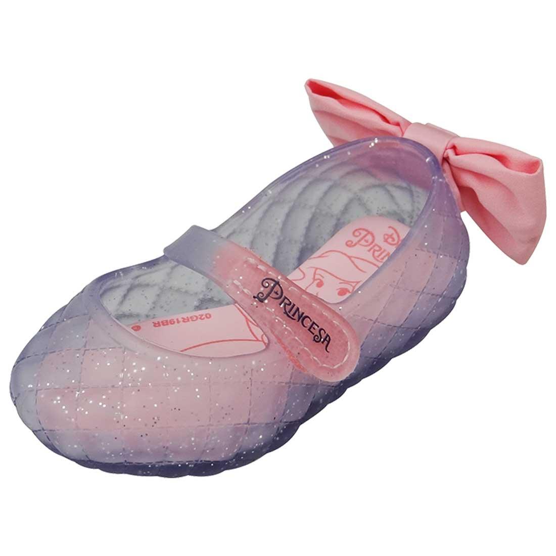 Sapatilha Boneca Baby Disney Ariel - Transparente com Glitter