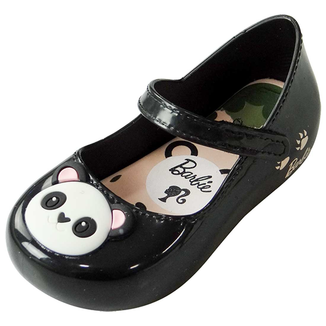 Sapatilha Boneca Barbie My Friends Panda - Preto