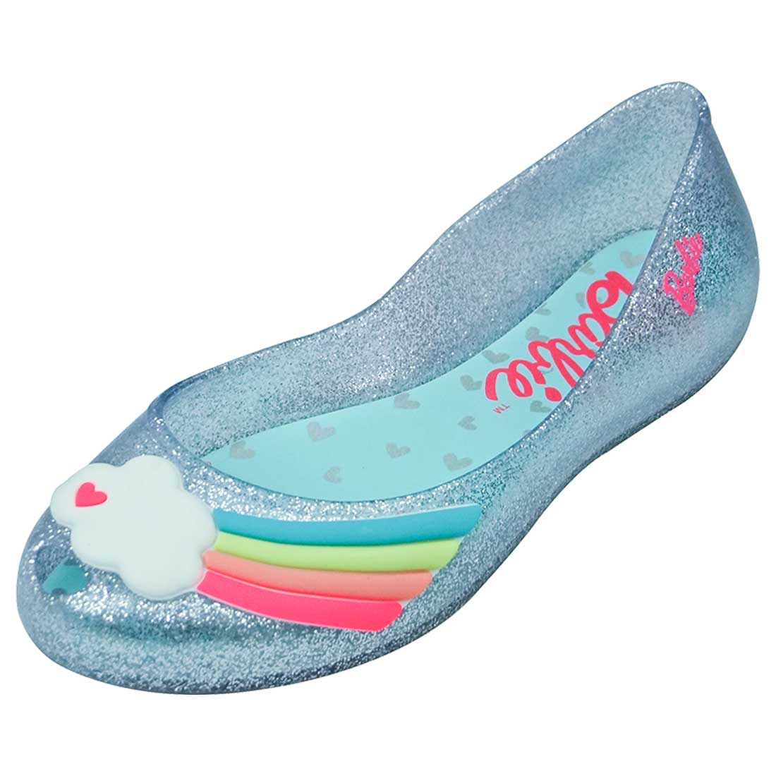 Sapatilha Infantil Glitter Barbie  - Prata