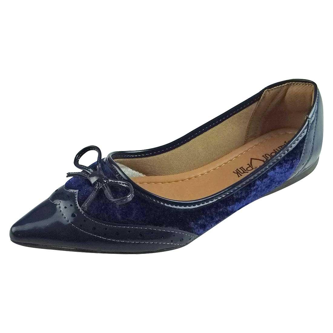 Sapatilha Verniz e Veludo - Azul