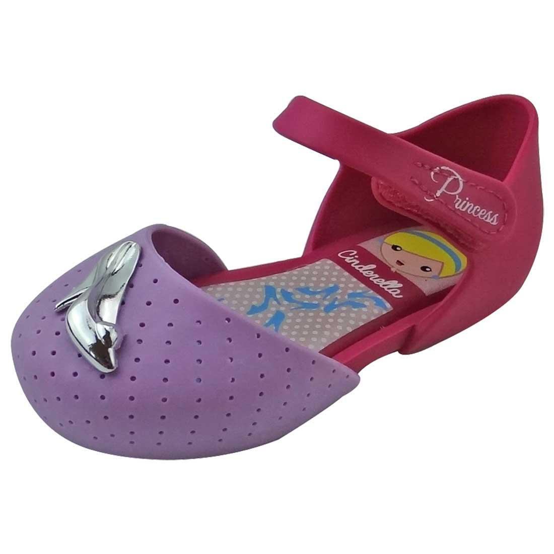 Sapato Boneca Baby Cinderela - Lilás e Pink