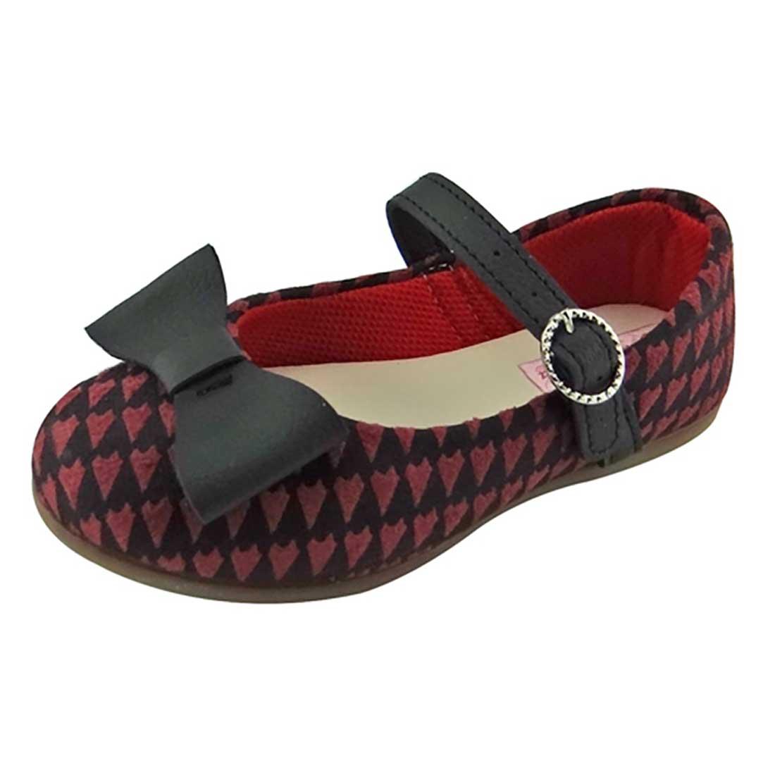Sapato Boneca Baby com Laço - Preto e Vinho