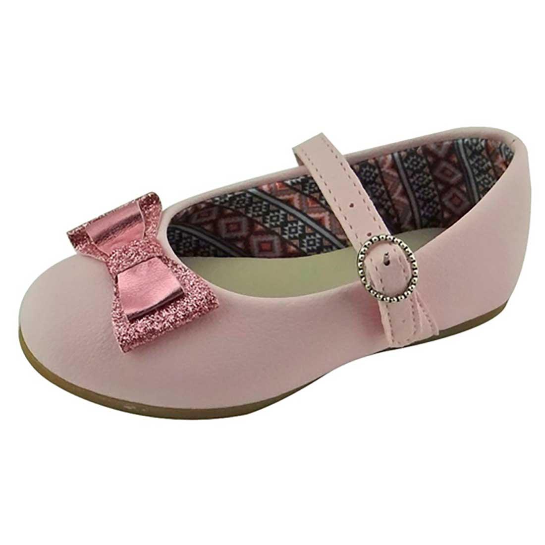 Sapato Boneca Baby com Laço - Rosa