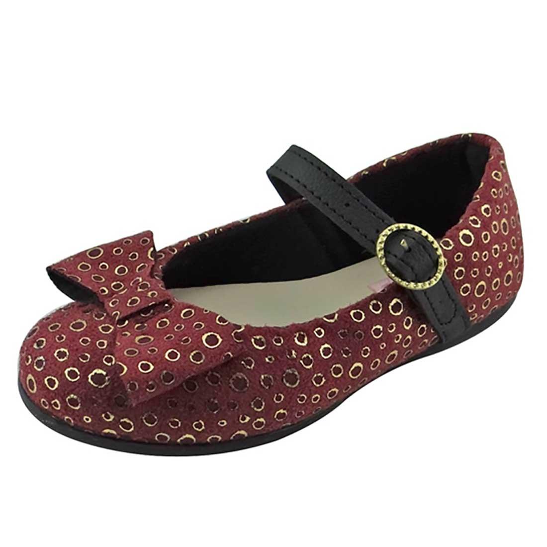 Sapato Boneca Baby com Laço - Vinho