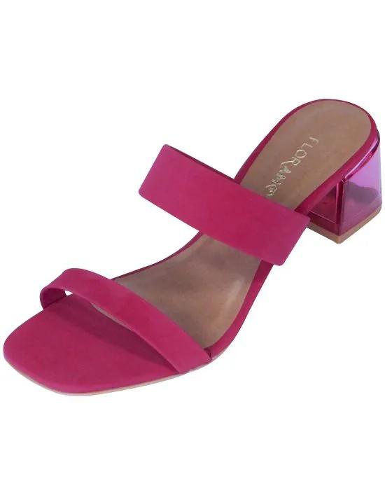 Tamanco com Salto Cristal - Pink