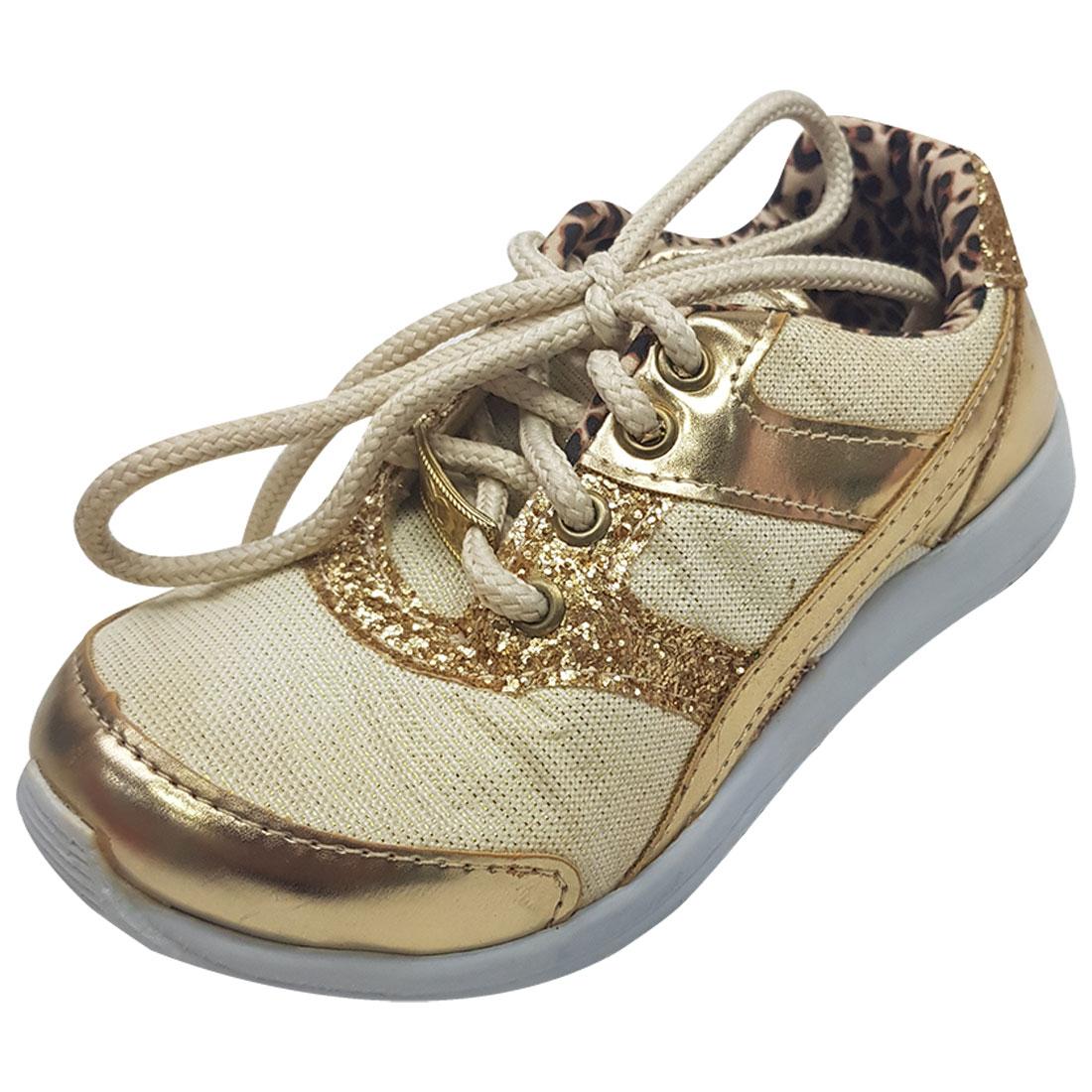 Tênis Baby Glitter - Ouro