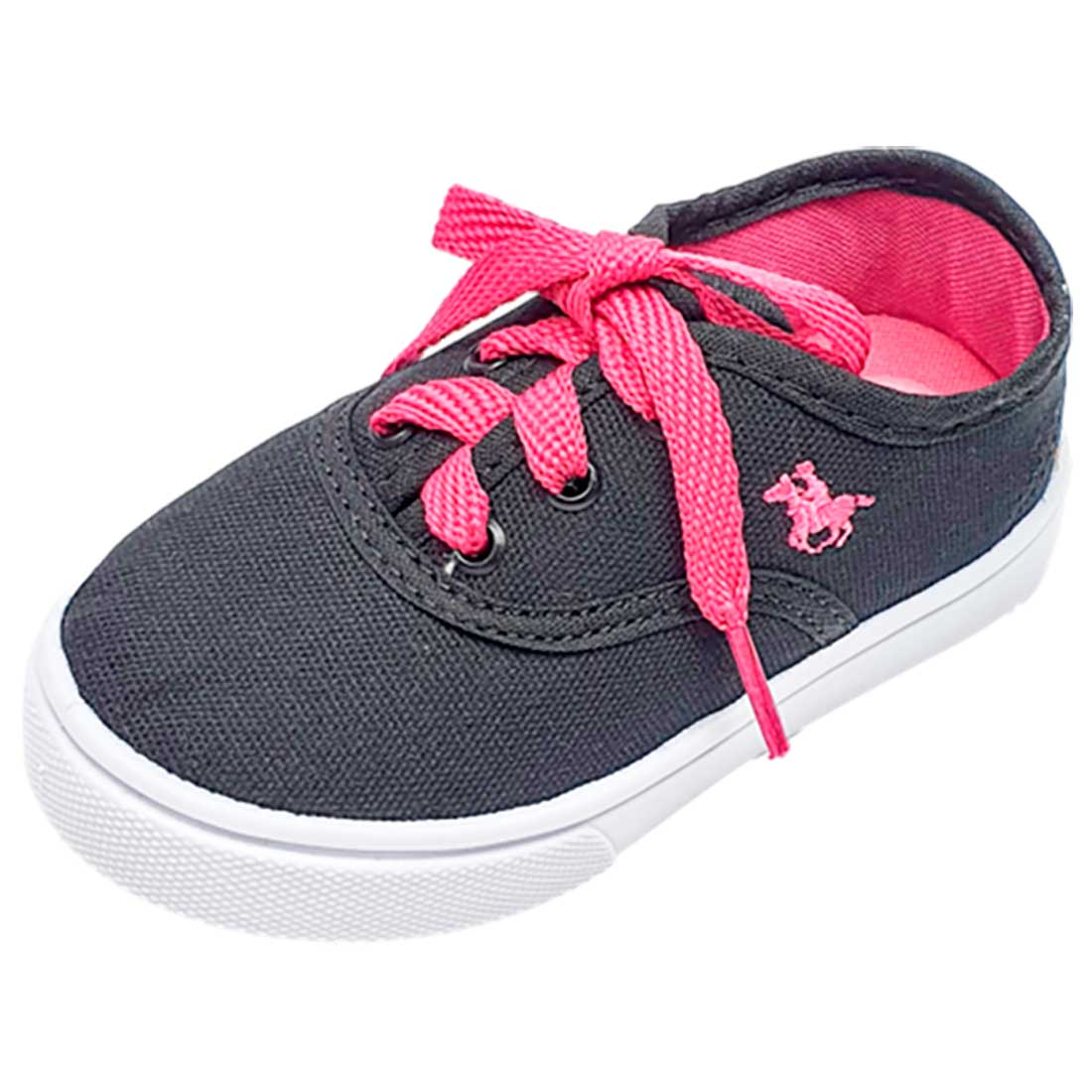 Tênis Baby Polo - Preto e Pink