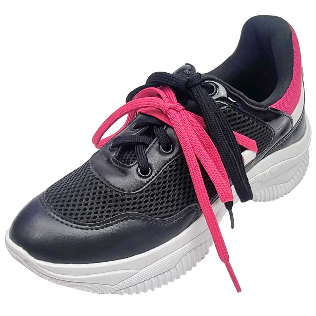 Tênis Comfort Chunky - Preto e Pink