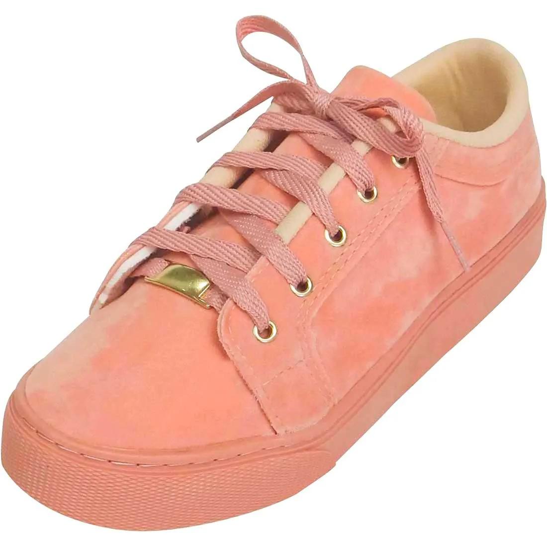 Tênis em Nobuck - Rosé
