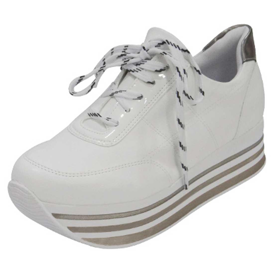 Tênis Flatform - Branco e Prata