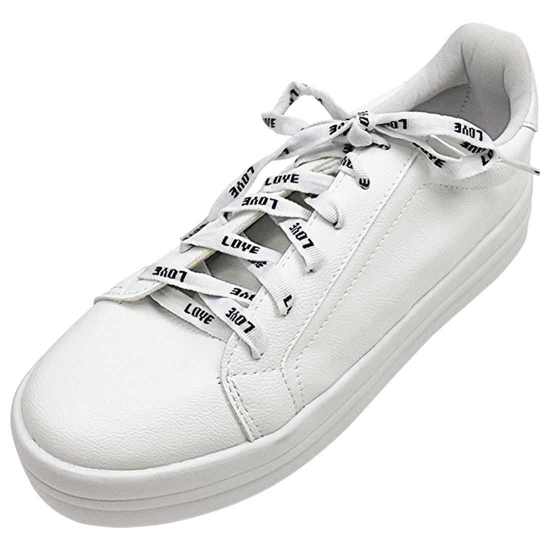 Tênis Flatform com Cadarço Love - Branco