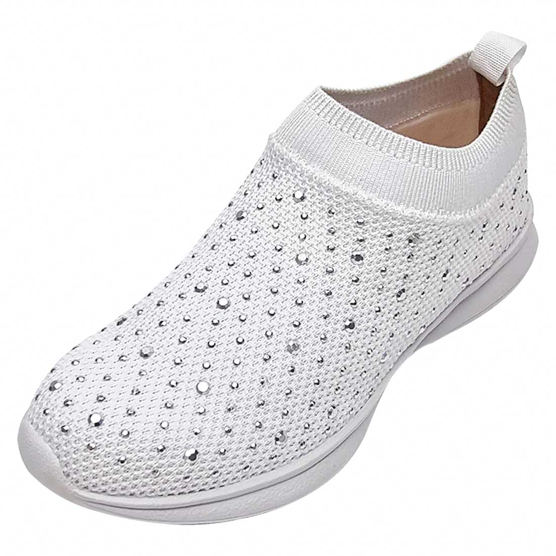 Tênis Meia Comfort com Hotfix - Branco