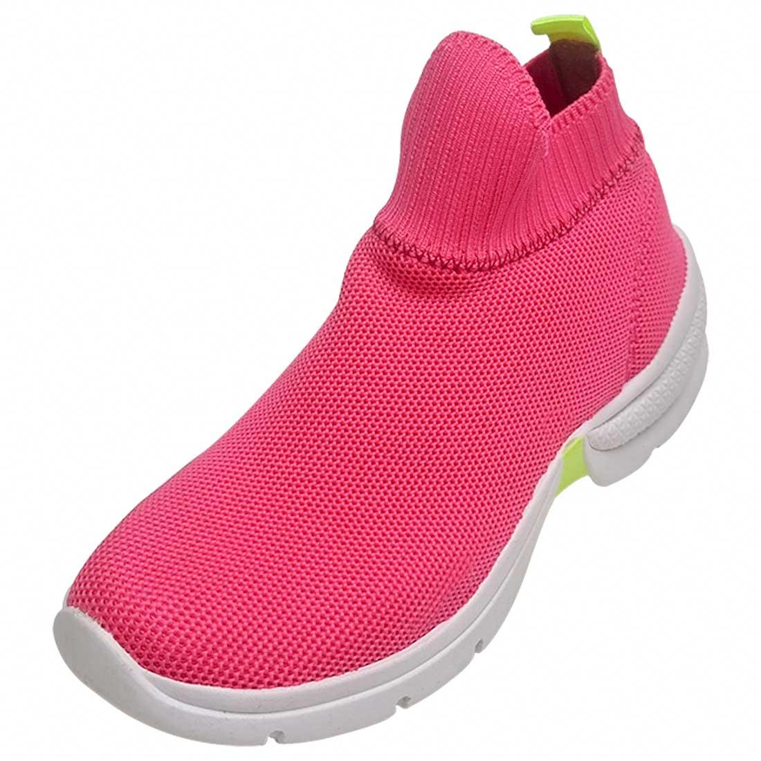 Tênis Meia Knit Cano Alto - Pink