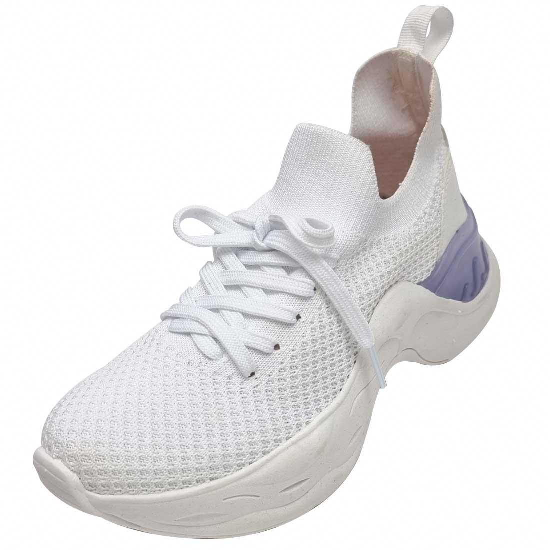 Tênis Meia Knit Comfort - Branco