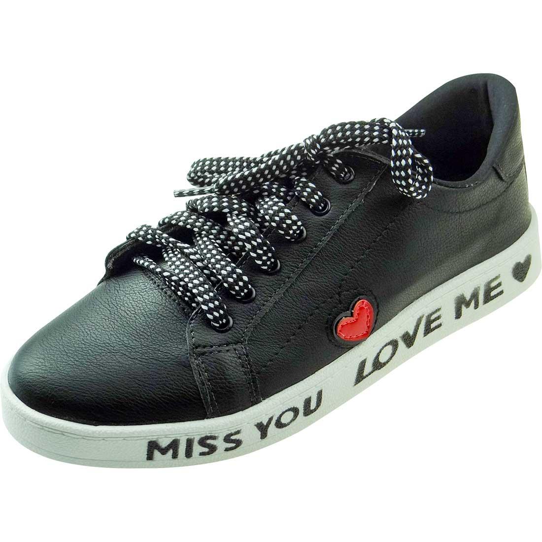 Tênis Miss You Love Me - Preto