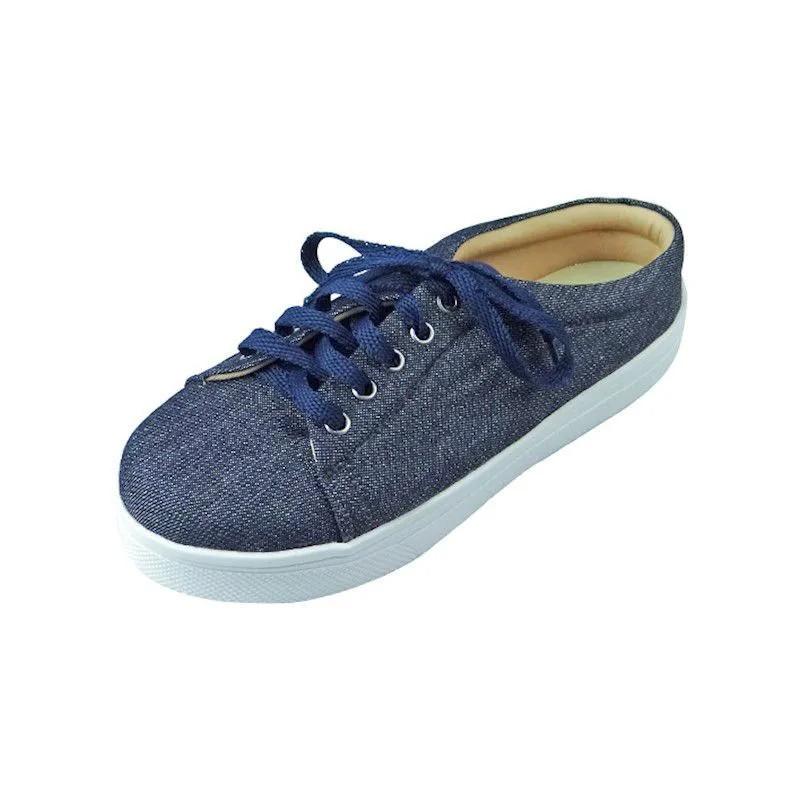 Tênis Mule Jeans com Amarração - Azul