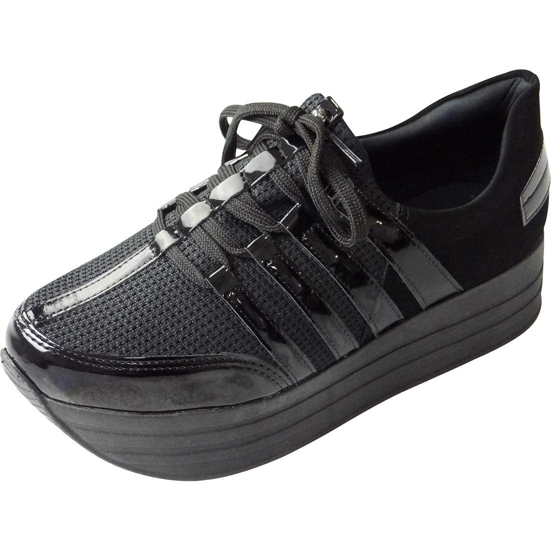 Tênis Plataforma All Black - Preto