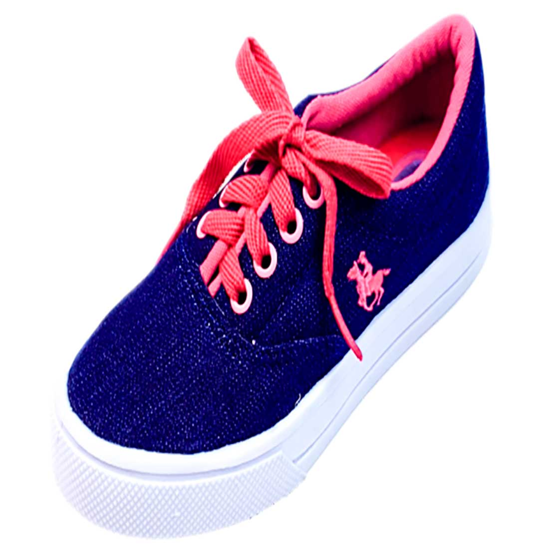 Tênis Polo Kids - Jeans e Pink