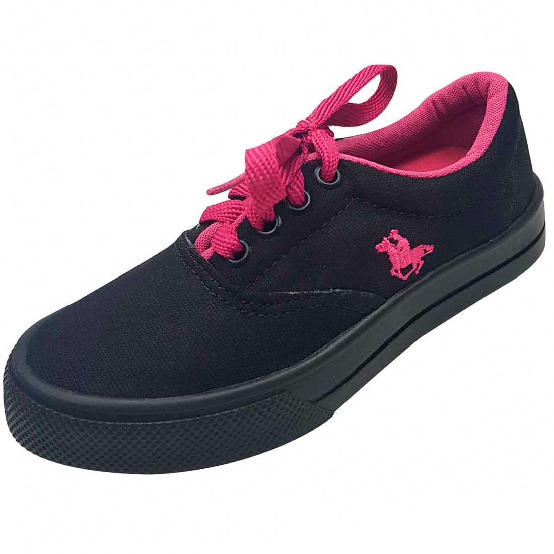 Tênis Polo Kids - Preto e Pink