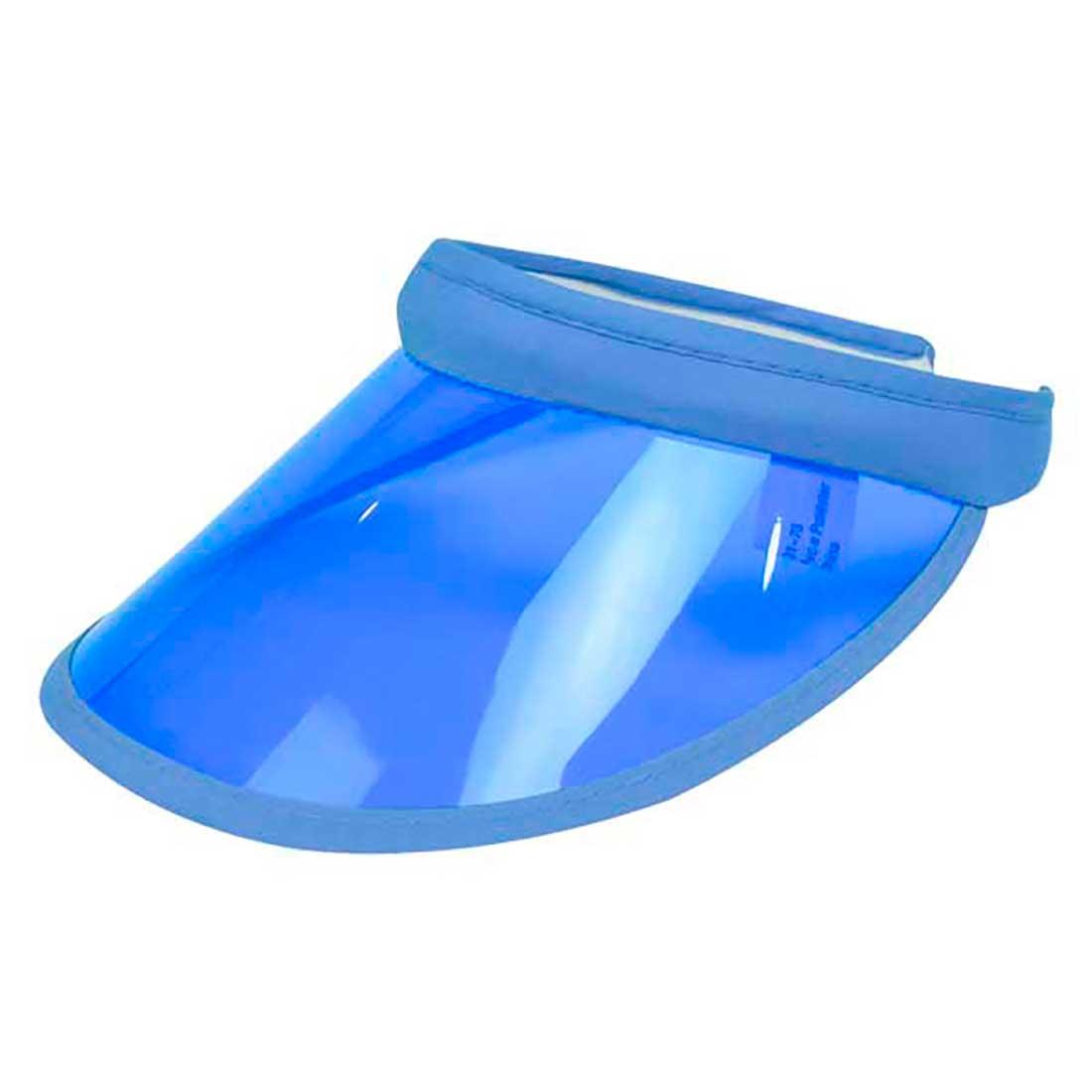 Viseira em Acetato Translúcido - Azul