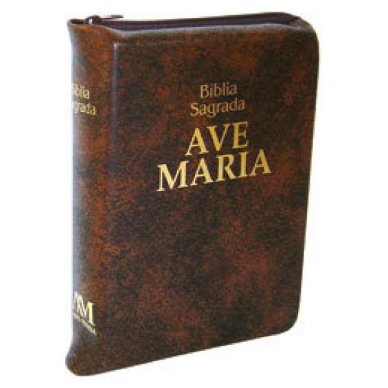 Bíblia Ave-Maria bolso zíper