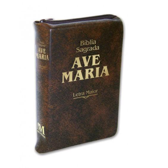 Bíblia Ave-Maria Letra MAIOR zíper
