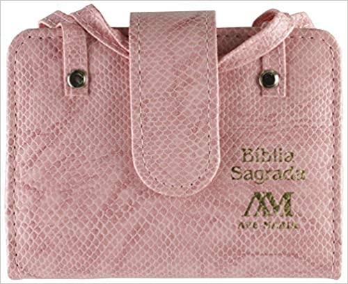 Bíblia com alça bolso (rosa)