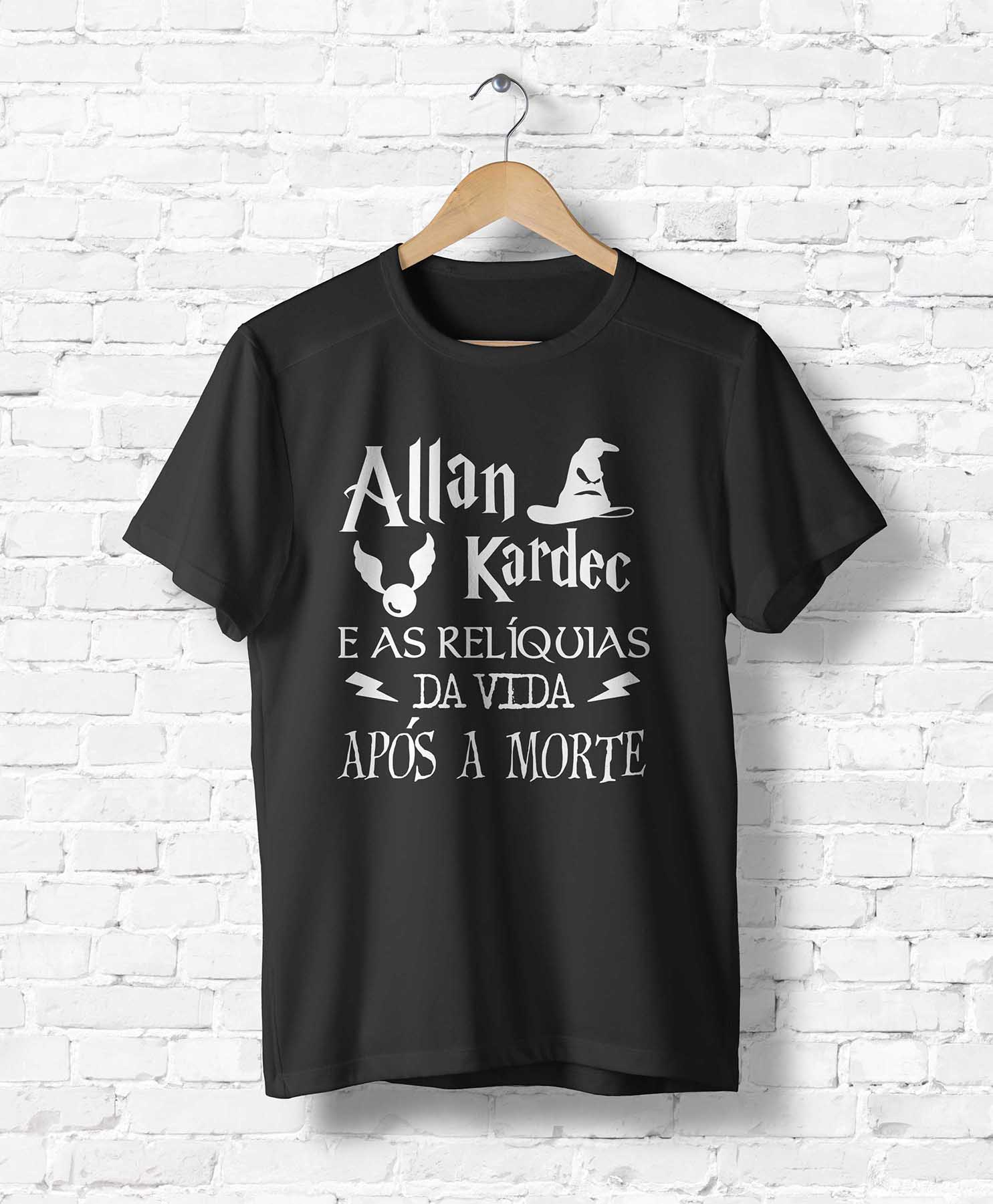 Camiseta Allan Kardec e as Relíquias da Vida Após a Morte