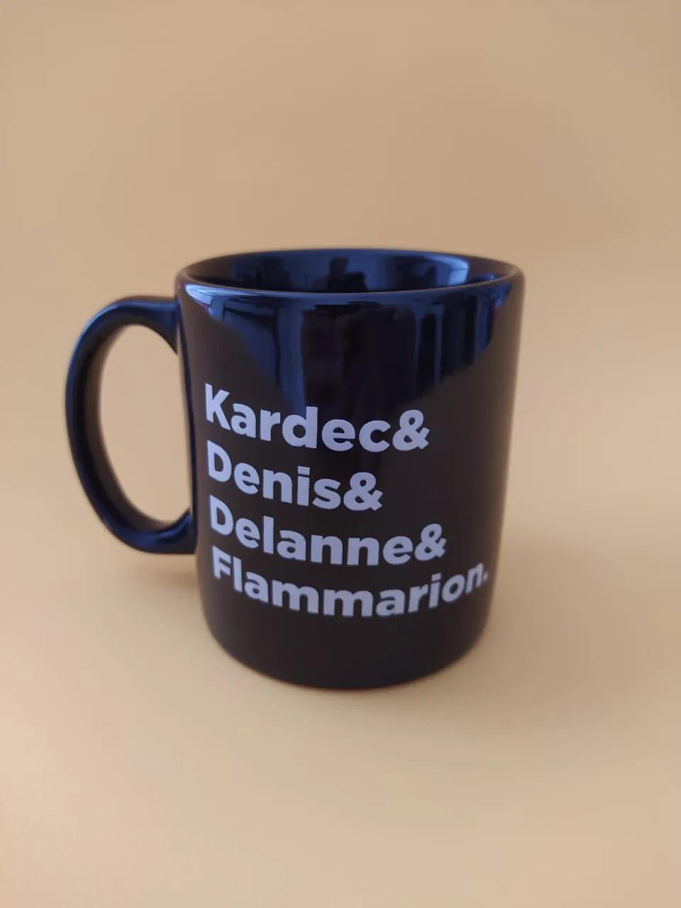 Caneca Kardec & Denis & Delanne & Flammarion