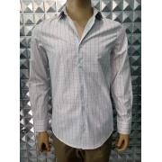 Camisa m/longa fio algodão fio 120 egípcio