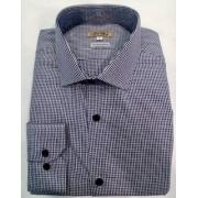 Camisa manga longa algodão fio 120 egípcio