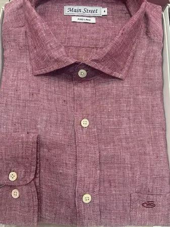 Camisa 100% linho manga longa