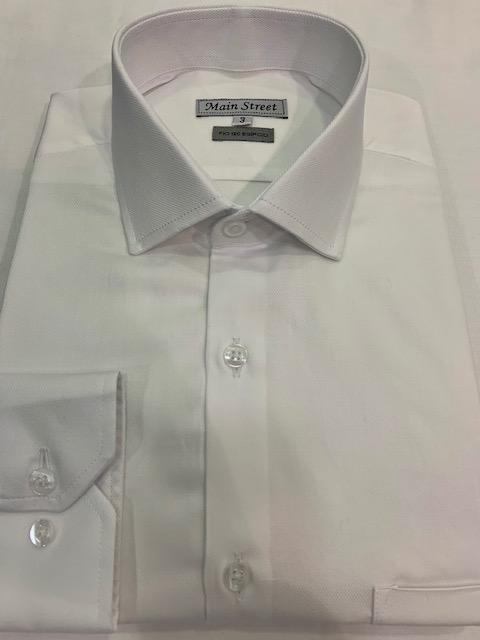 Camisa branca social manga longa 100% algodão fio 120 egípcio