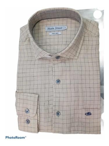 Camisa manga longa 100% linho