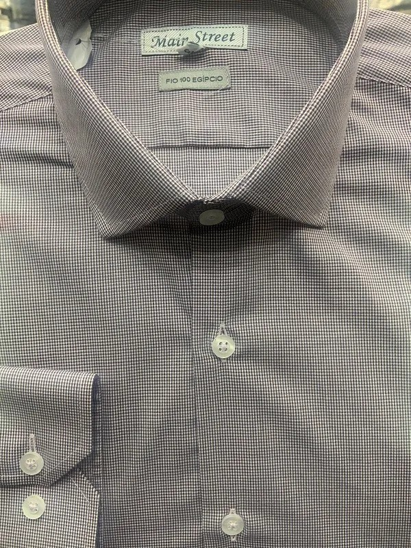 Camisa manga longa fio 100 egípcio