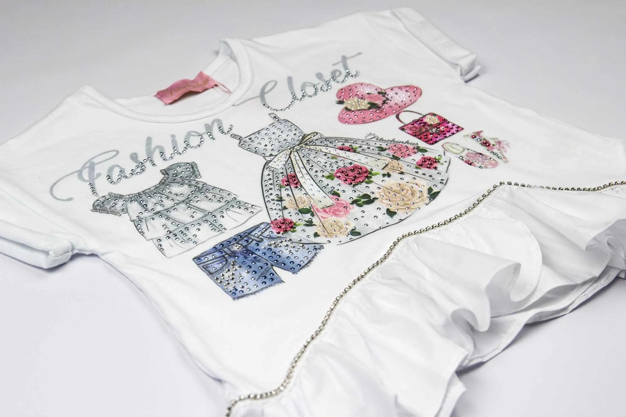 Blusa Cotton Babado Tricoline Pituchinhus Premium