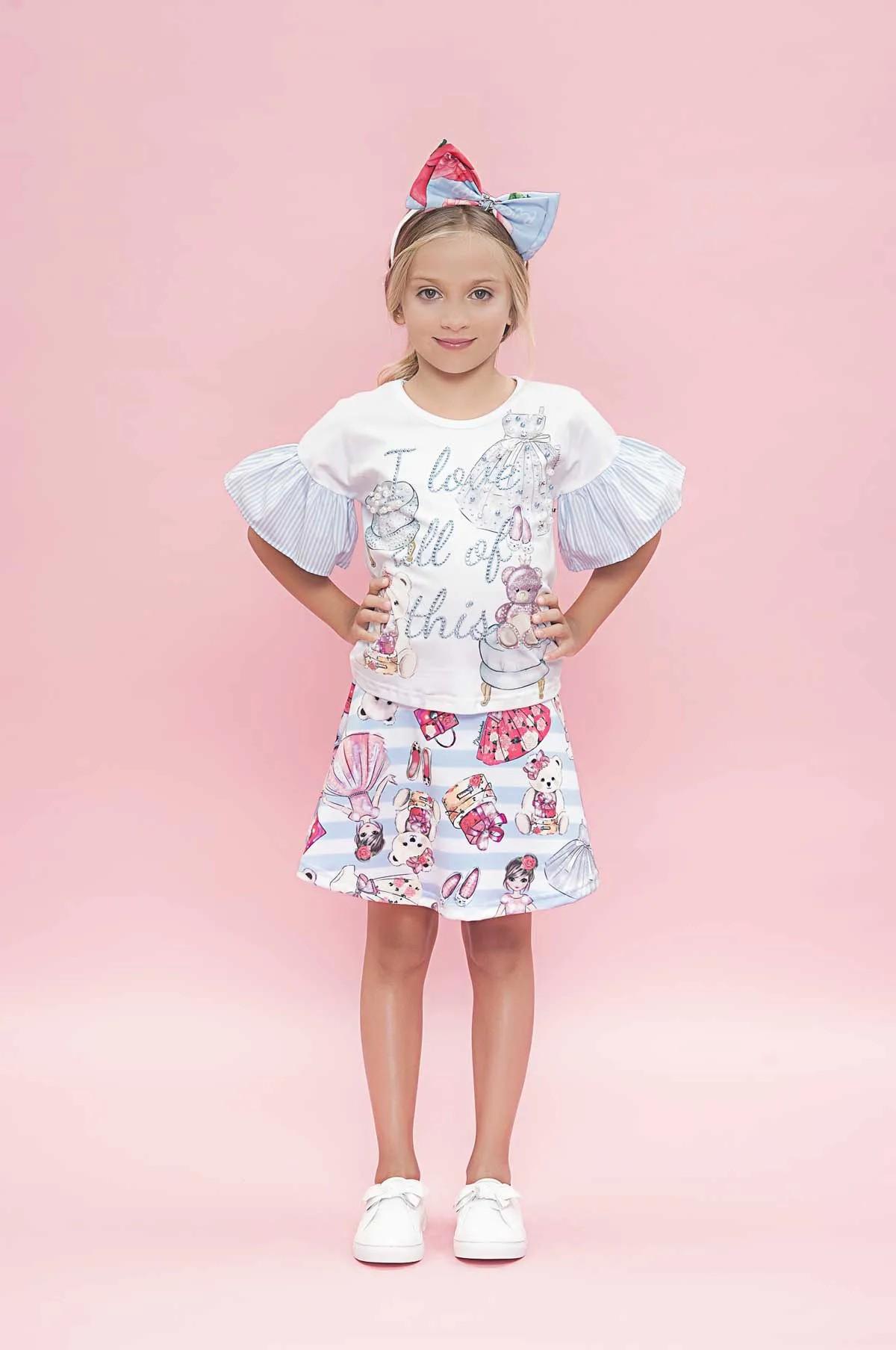 Blusa Cotton Detalhe MG Itens Closet Pituchinhus Premium
