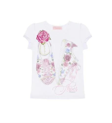 Blusa Cotton Tênis Patche Flor Pituchinhus Premium