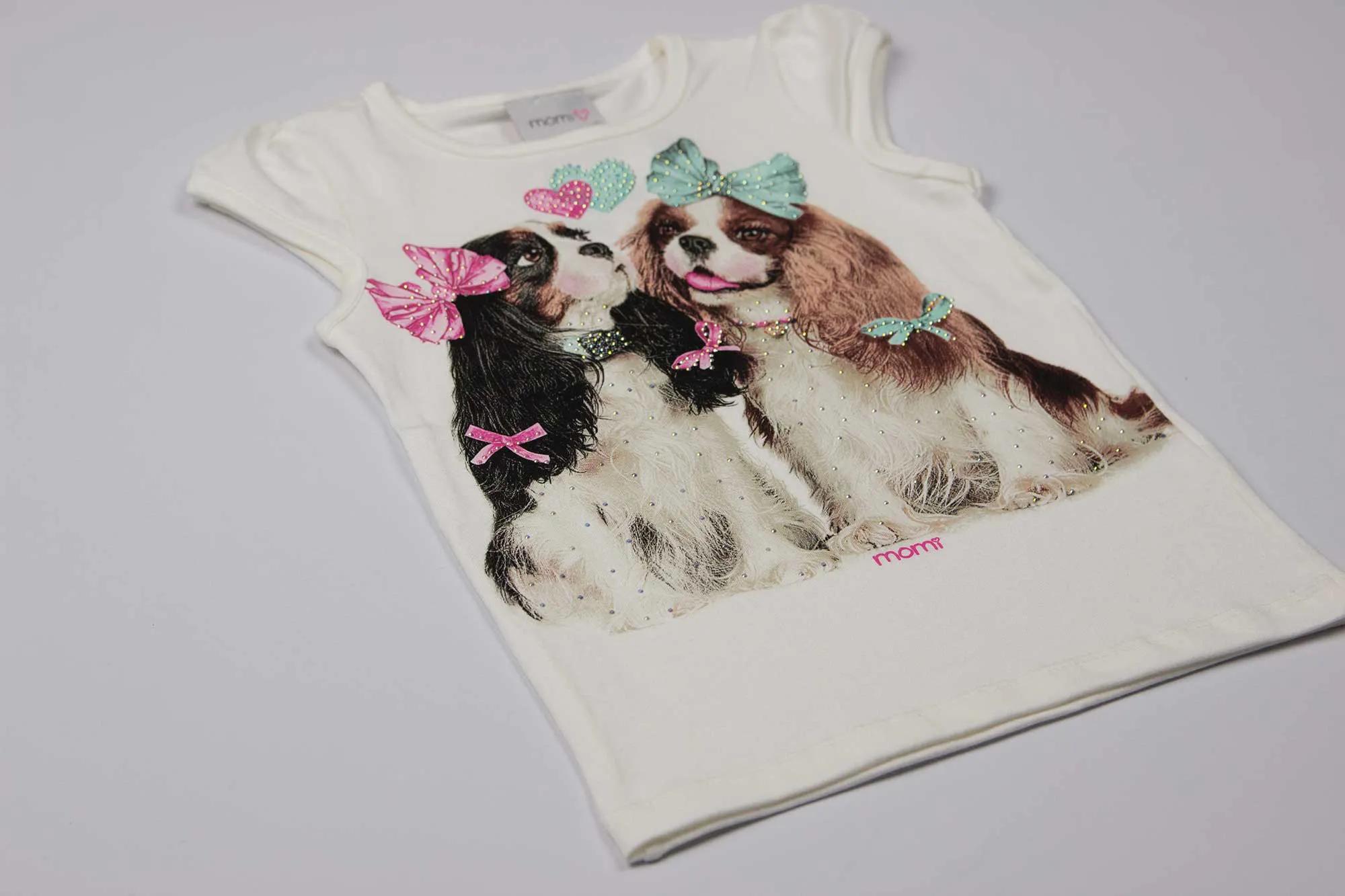 Blusa Duas Cachorrinhas - Momi