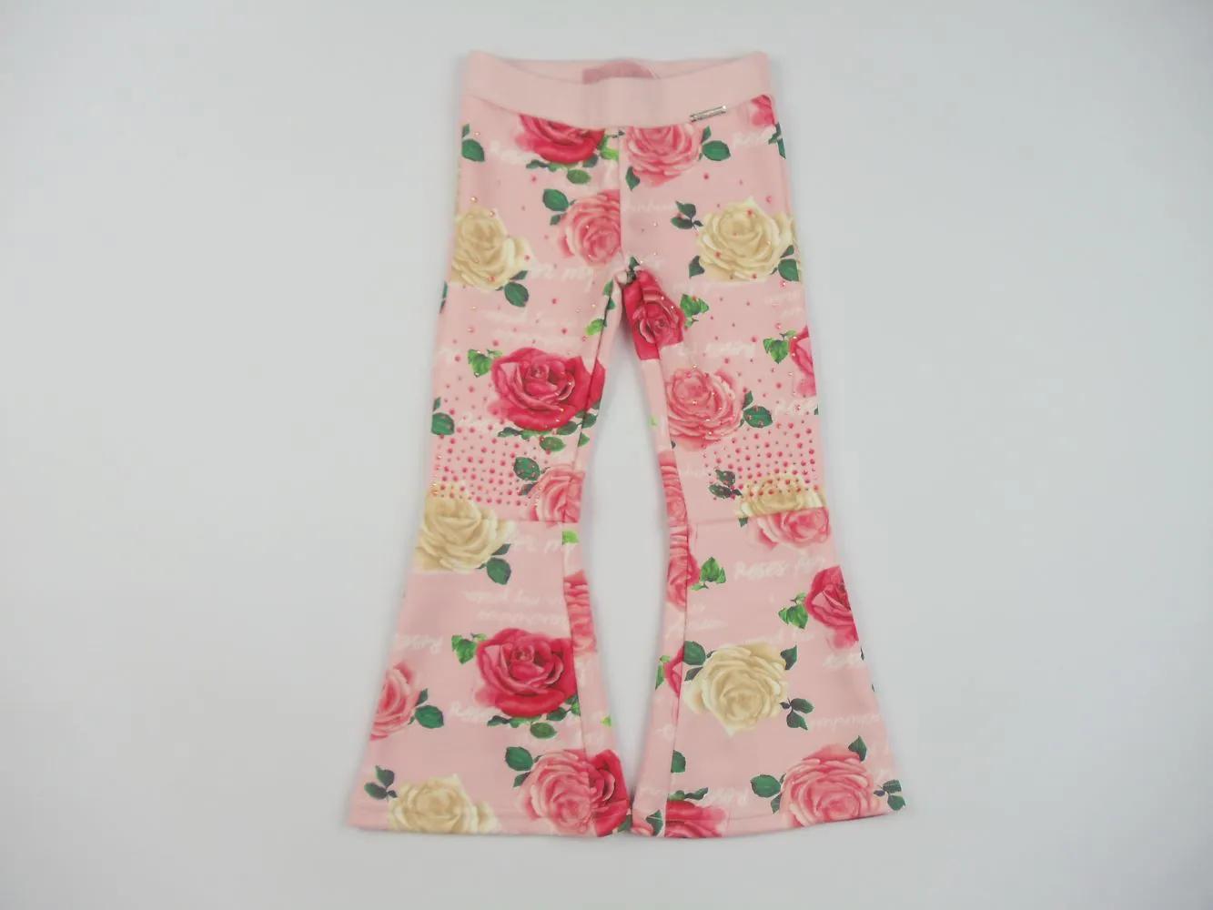 Calça Flare Neoprene Floral Pituchinhus Premium