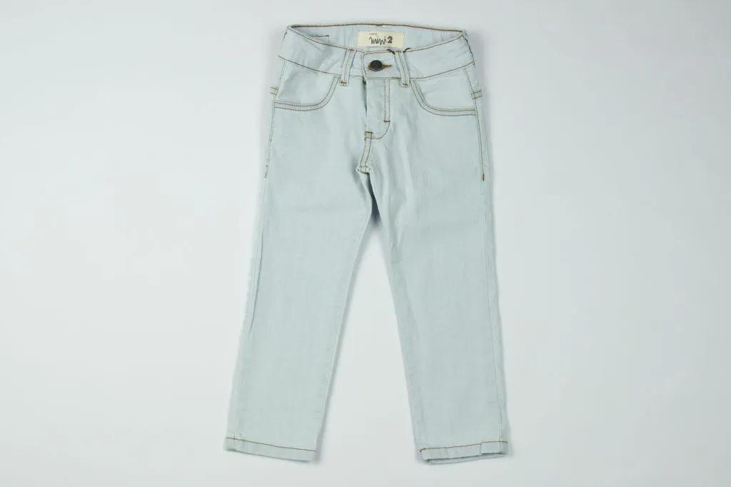 Calça Jeans Combate Azul Claro Reserva Mini