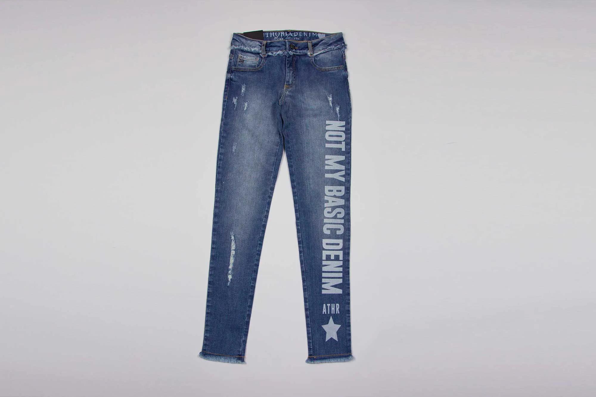 Calça Jeans Desfiada Authoria