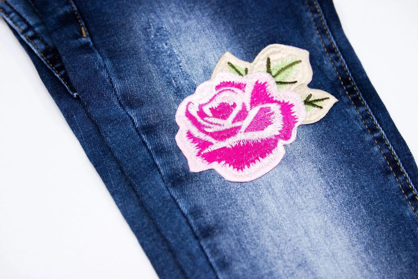 Calça Jeans Patches Flores Pituchinhus Premium